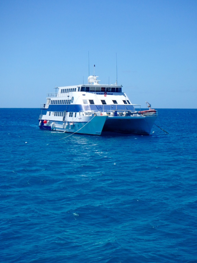 Liveaboard dive boat, Great Barrier Reef, Queensland