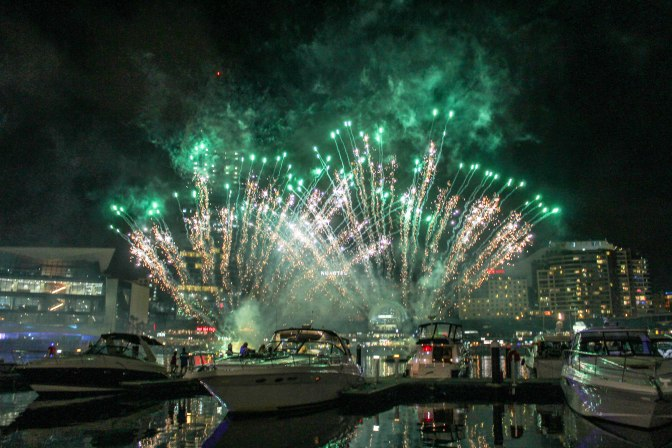 Darling Harbour fireworks, Sydney, New South Wales, Australia
