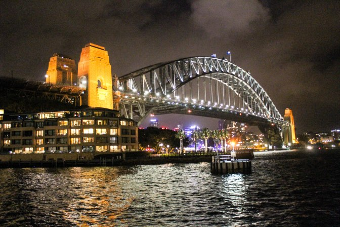 Sydney Harbour Bridge at night, New South Wales, Australia