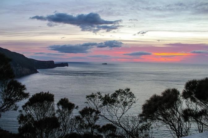 Munro bite sunrise, Three Capes Track, Tasmania, Australia