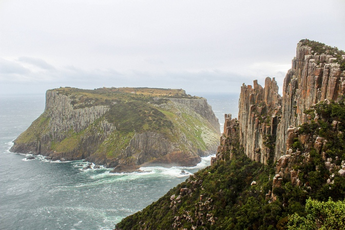 Tasman Island from Cape Pillar, Three Capes Track, Tasmania, Australia