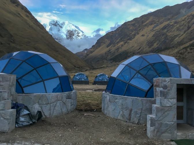 Sky camp in the mountains, Soraypampa, Peru