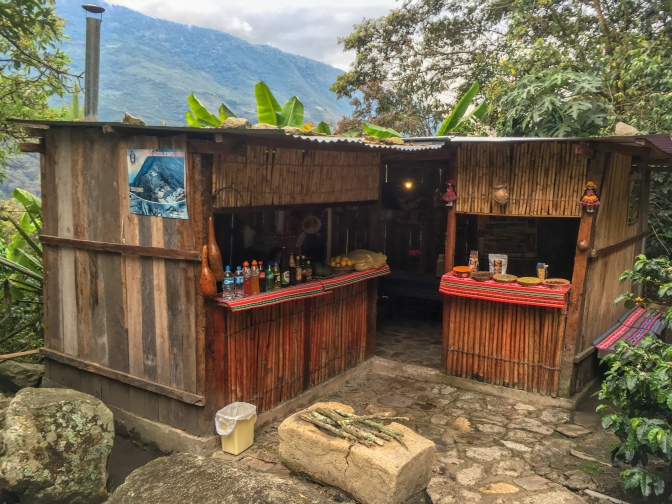 Jungle coffee shop, Lucmabamba, Peru